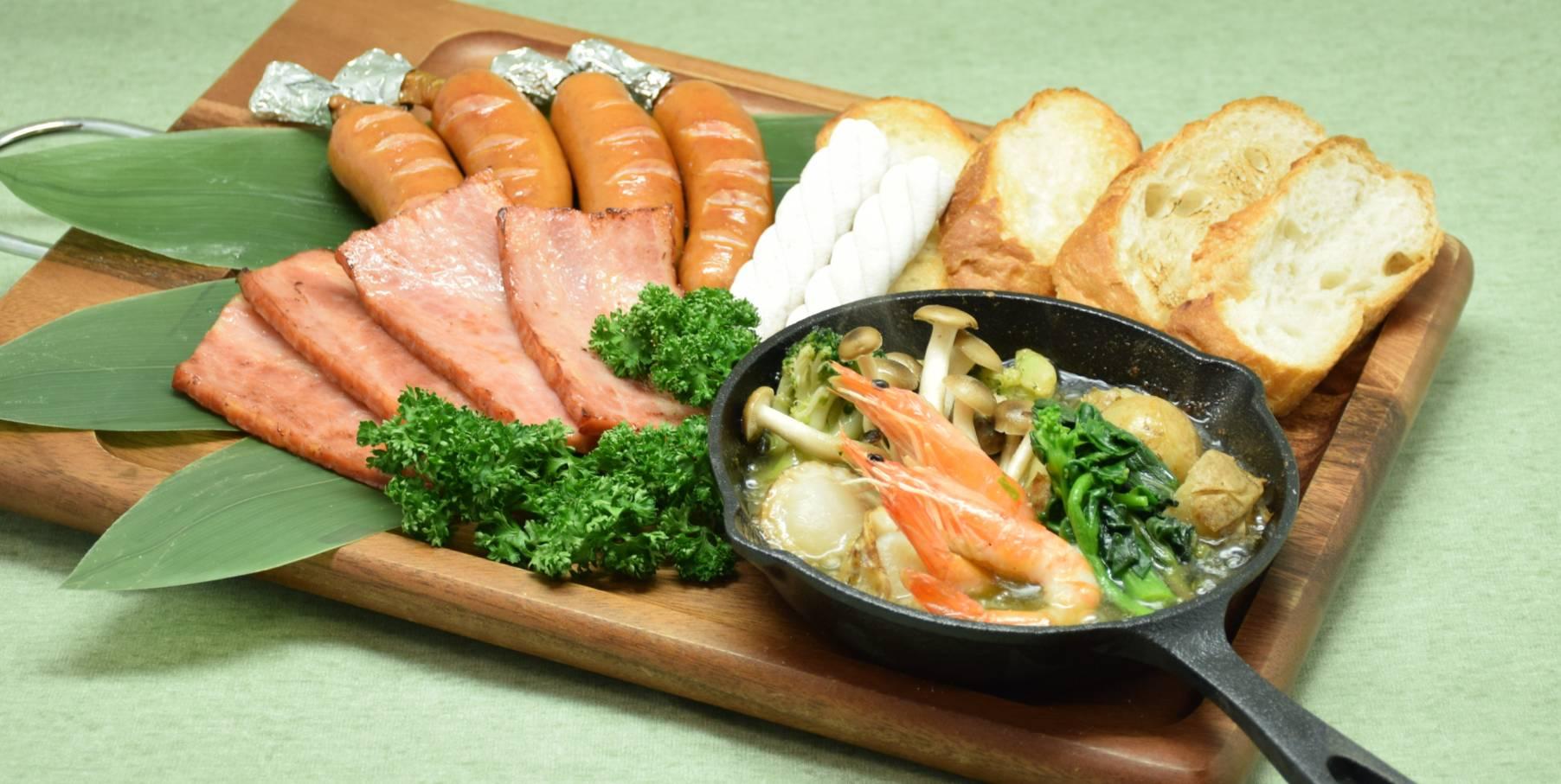 【期間限定】春野菜と海鮮のアヒージョセット